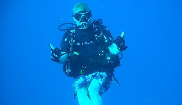 Rudy in the Ocean