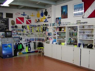 inside our shop